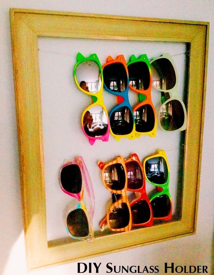 DIY framed sunglasses holder (via glitterspice.com)