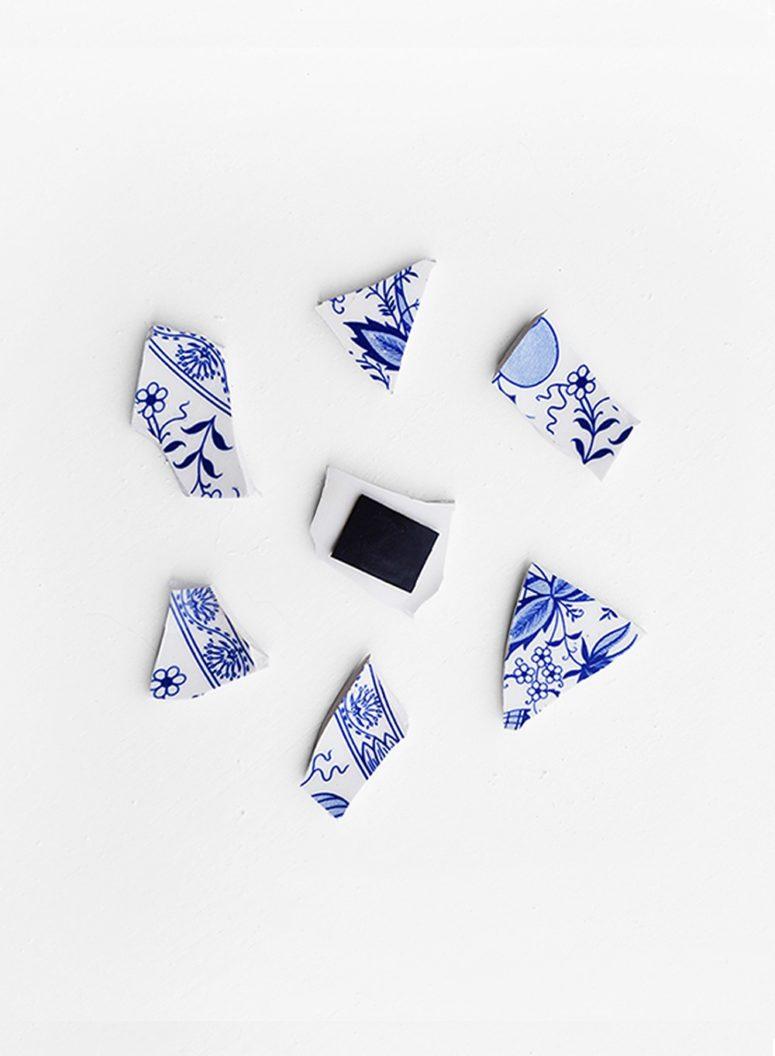 DIY broken crockery fridge magnets (via nur-noch.com)