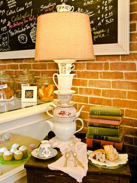 DIY teaware table lamps (via www.designsponge.com)