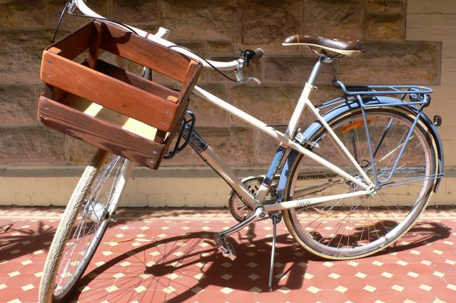 simple DIY bike crate of wood (via littlehousecollective.wordpress.com)