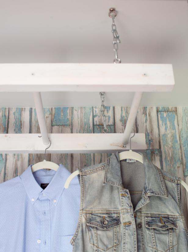 DIY drying rack of an old ladder (via www.hgtv.com)