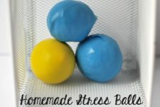 DIY stress balls filled wiht playdough