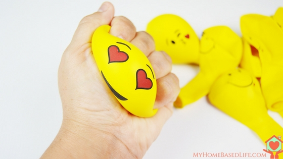 DIY colorful painted emoji stress balls (via myhomebasedlife.com)
