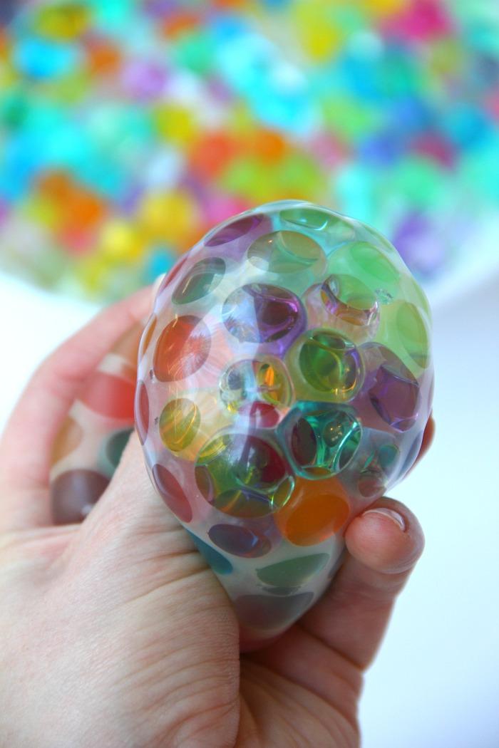 DIY water bead stress balls
