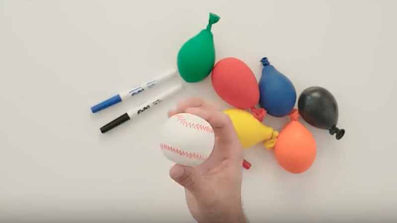 DIY colorful stress balls with different looks