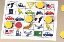 DIY magnetic travel bingo game
