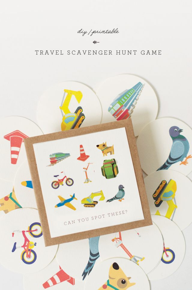 DIY travel scavenger hunt game (via www.thelittlemonsterblog.com)