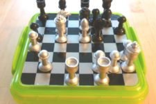fully DIY magnetic travel chess