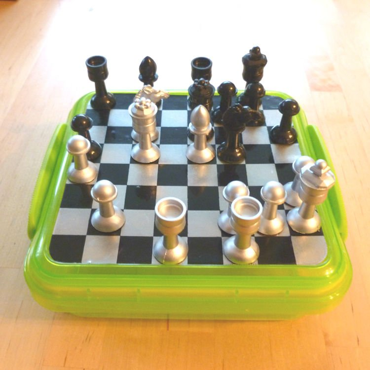 fully DIY magnetic travel chess (via www.instructables.com)