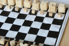 DIY travel chess inspired by buildings