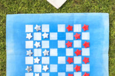 DIY checkers travel game