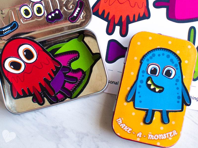 DIY magnetic monster travel game for kids