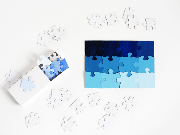 DIY travel ombre puzzle game (via www.hellowonderful.co)