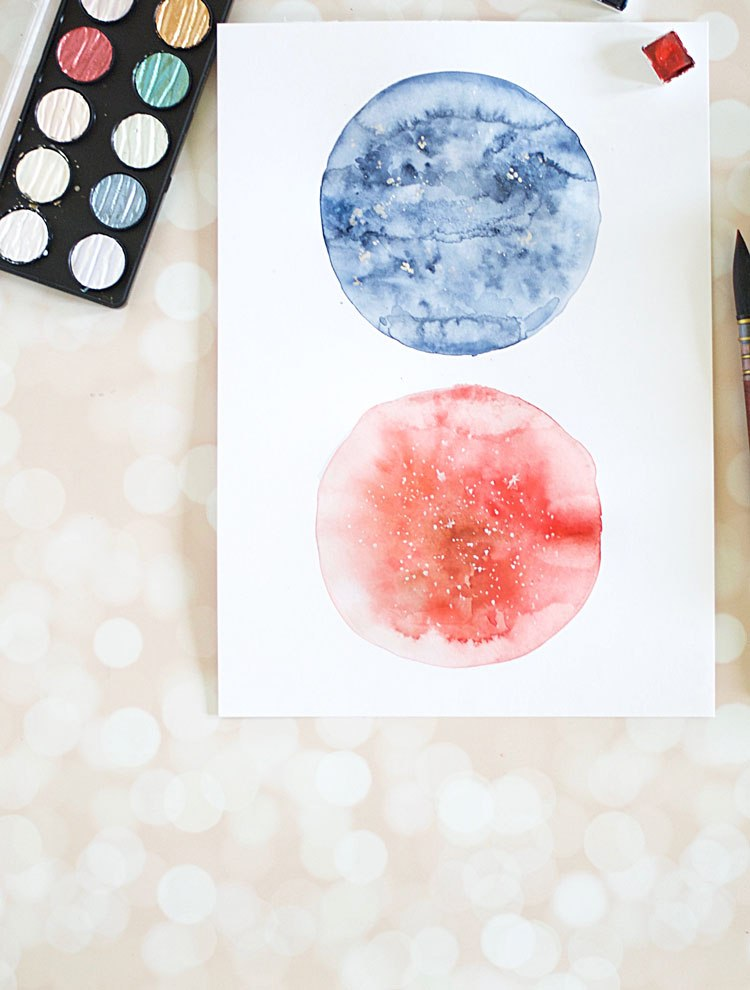 DIY watercolor moon wall art (via www.inkstruck.com)