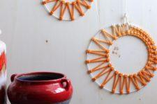 DIY macrame moon phase wall art