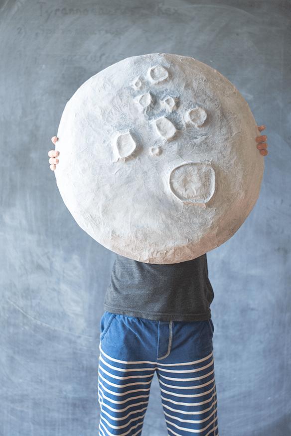 DIY giant paper mache moon