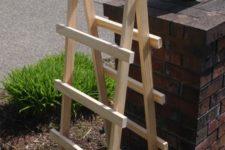 DIY ladder style garden trellis