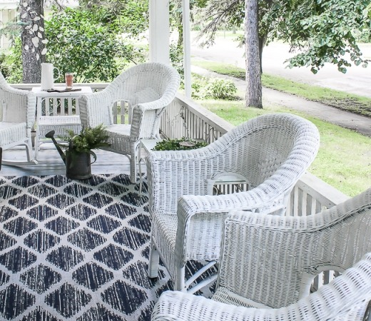 DIY wicker chair renovation with spray paint and a sealant (via www.homeright.com)