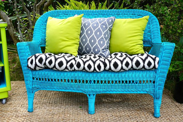 DIY bright wicker seat renovation