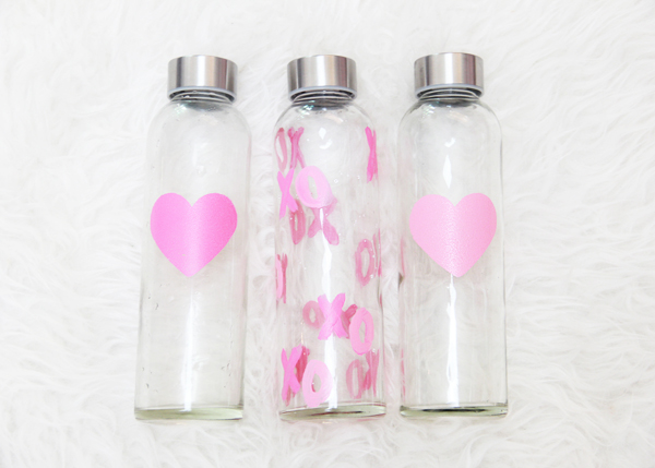 DIY heart painted water bottles (via blog.potterybarn.com)