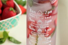 DIY motivational water bottle with stickers