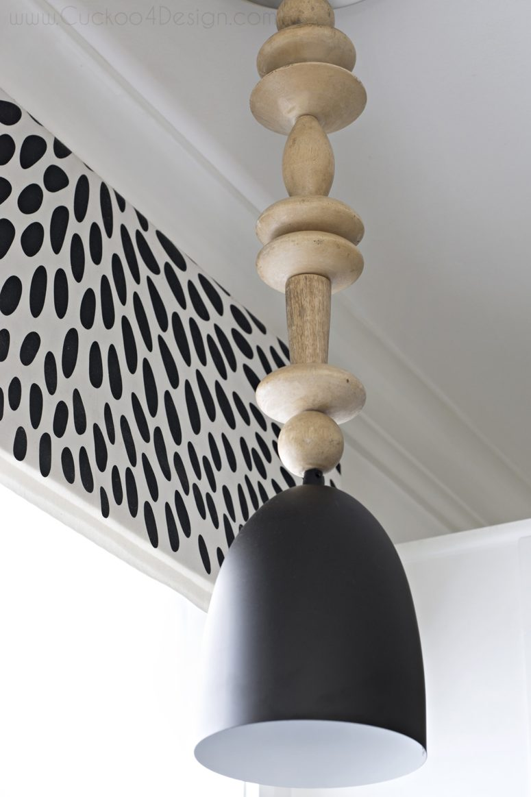 DIY minimalist oversized wood bead pendant (via cuckoo4design.com)