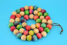 DIY colorful wood bead trivet