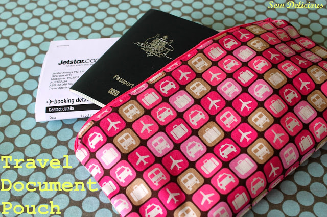 DIY travel printed document pouch (via sewdelicious.com.au)