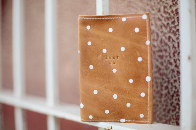 DIY leather polka dot passport holder (via www.alwaysrooney.com)