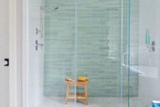 07 peaceful aqua tiles make taking a shower a relaxing experience