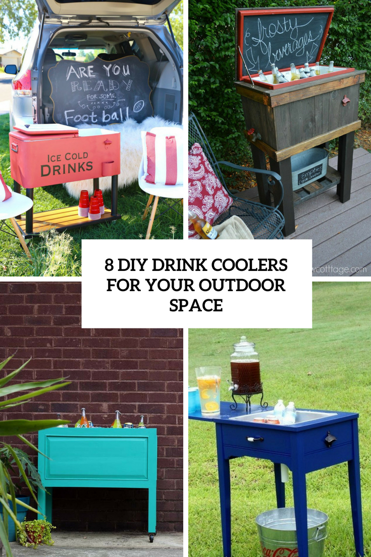 8 DIY Drink Coolers For Your Outdoor Space