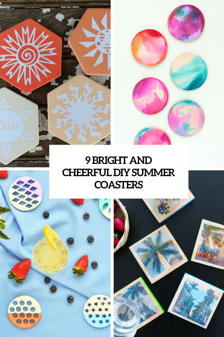 9 bright and cheerful diy summer coasters cover