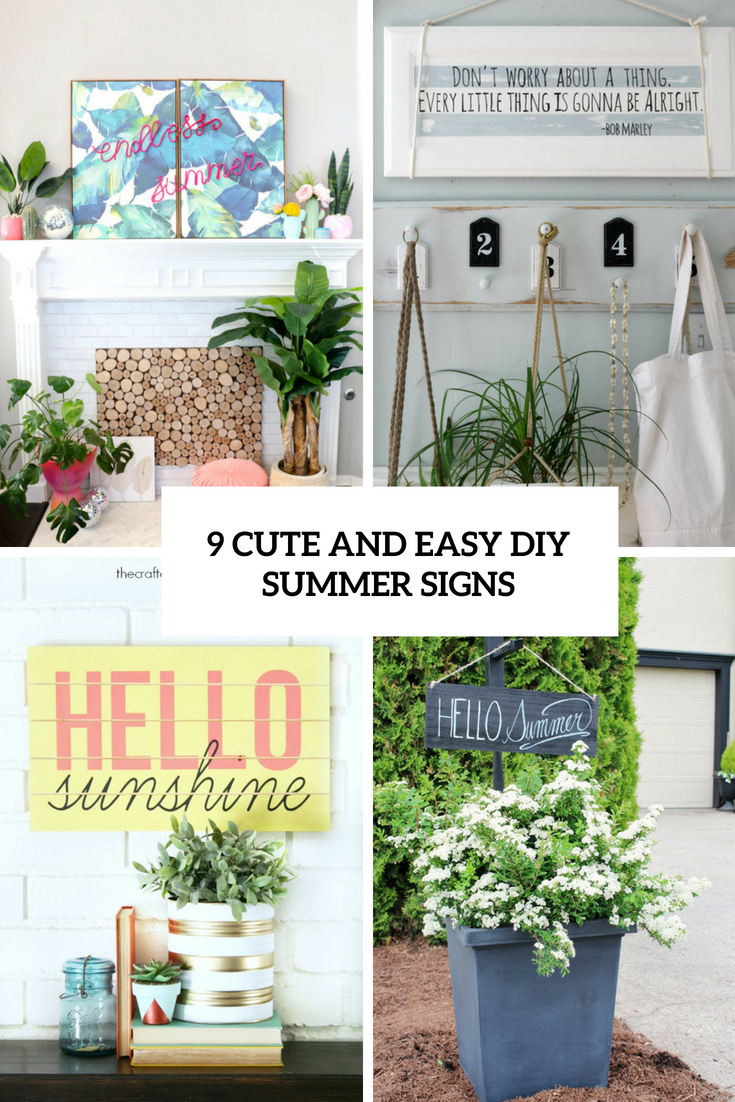 9 cute and easy diy summer signs cover