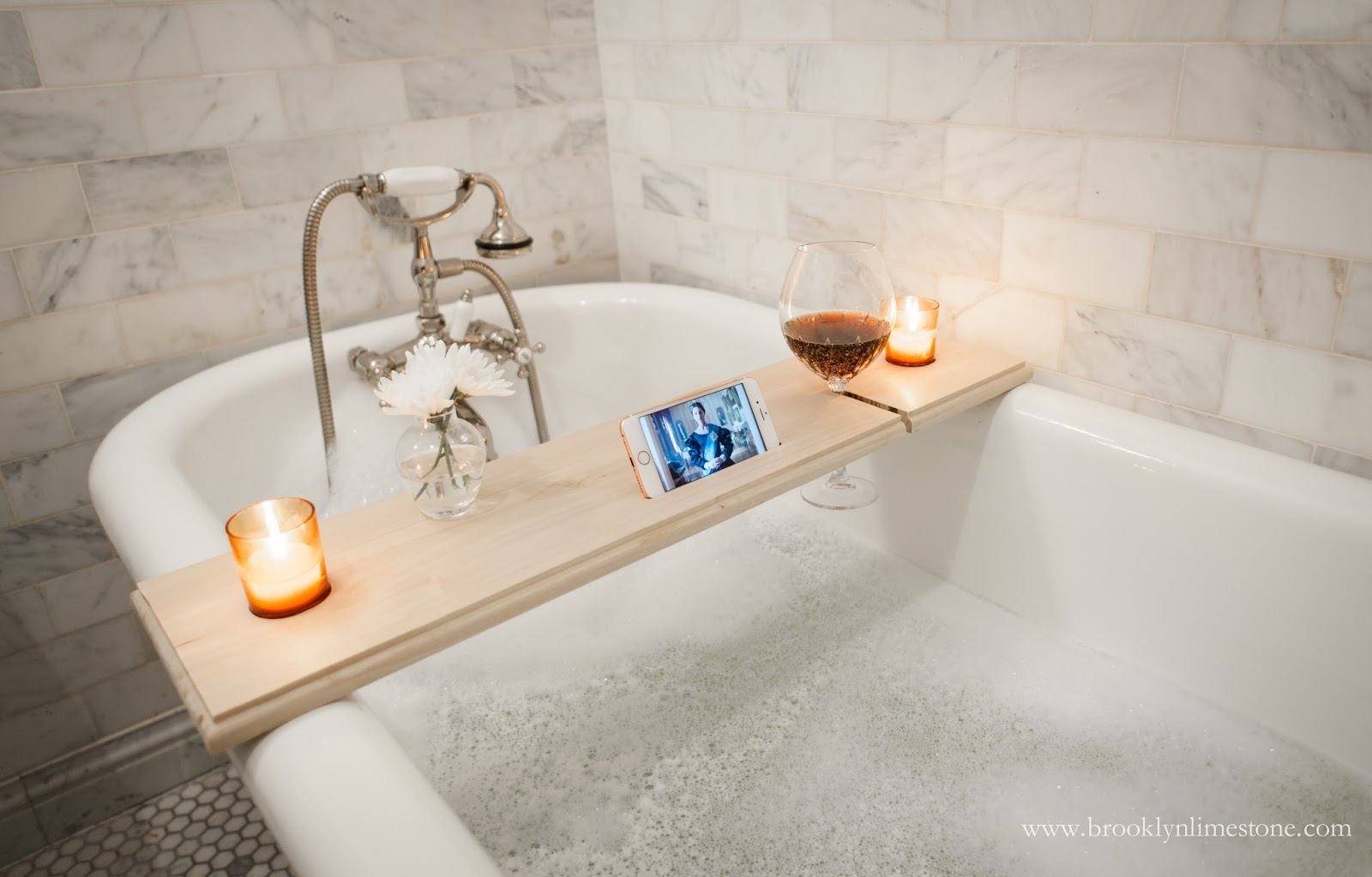 DIY simple modern bath tray