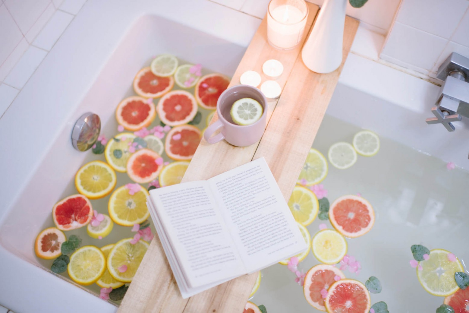 DIY modern light colored wooden tray