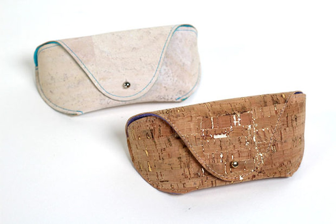 DIY eye catchy cork fabric sunglasses case