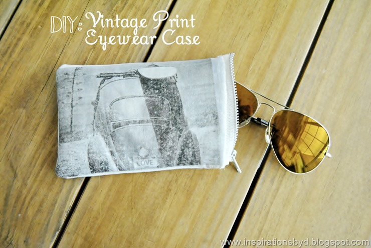 DIY vintage car sunglasses case with a zipper (via inspirationsbyd.blogspot.com)