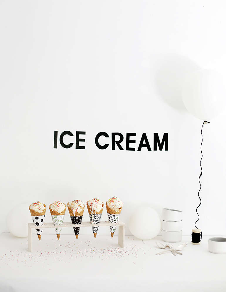 DIY plywood ice cream cone stand (via themerrythought.com)