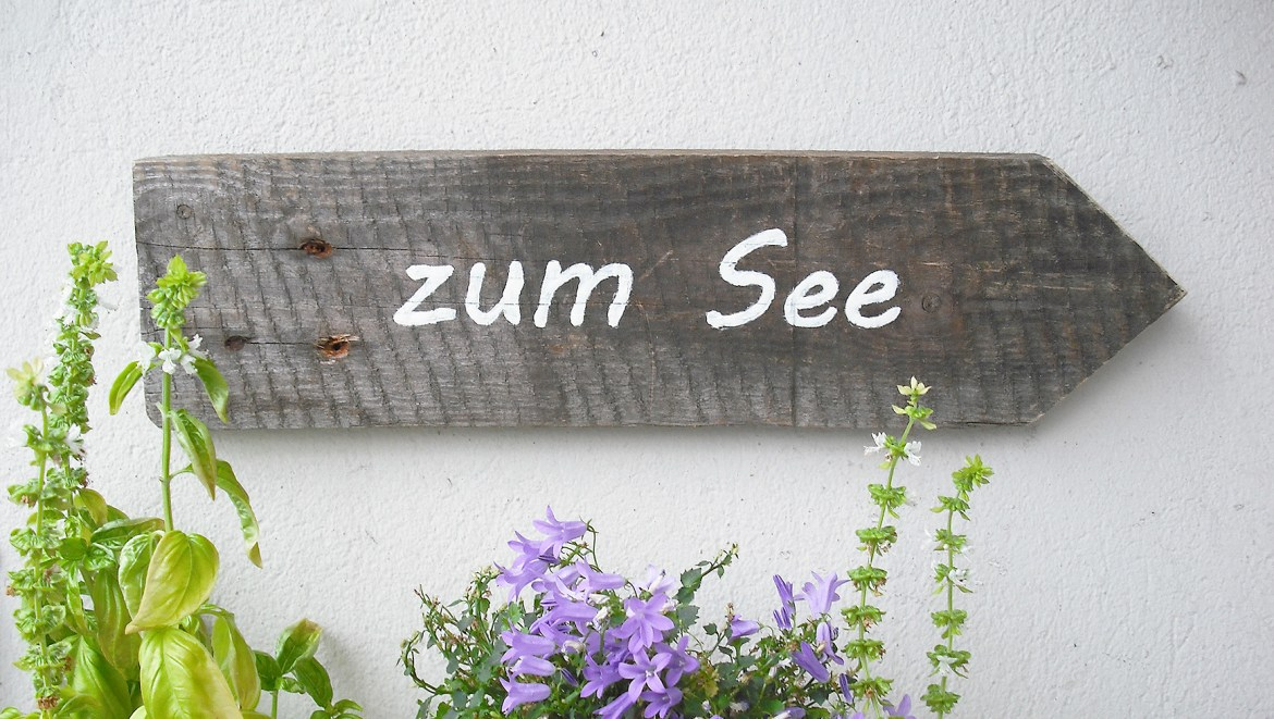 DIY rustic wooden sign with letters