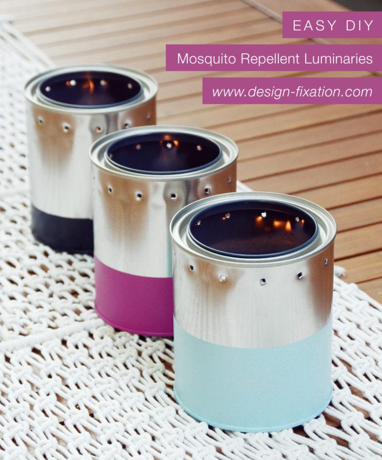 DIY tin can dipped citronella candles (via design-fixation.com)