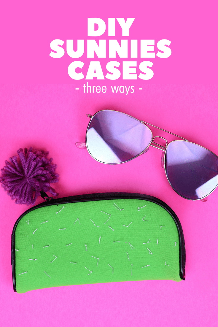 DIY cactus inspired sunglasses pouch (via madincrafts.com)