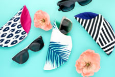 DIY printed sunglasses cases with mismatching lining