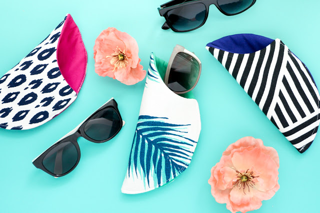 DIY printed sunglasses cases with mismatching lining (via akailochiclife.com)