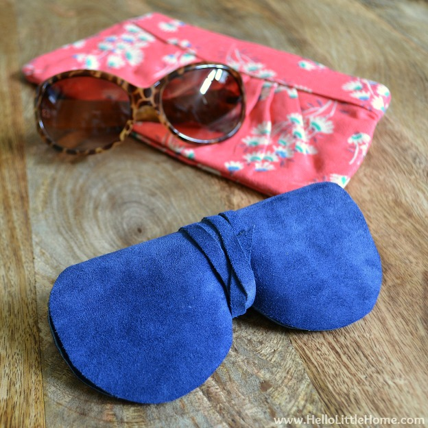 DIY bold blue sunglasses case (via hellolittlehome.com)