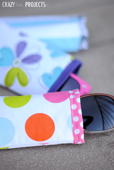 DIY colorful printed sunglasses cases (via crazylittleprojects.com)