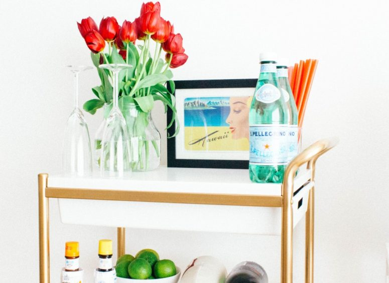 DIY IKEA Bygel cart makeover (via www.seefoodplay.com)