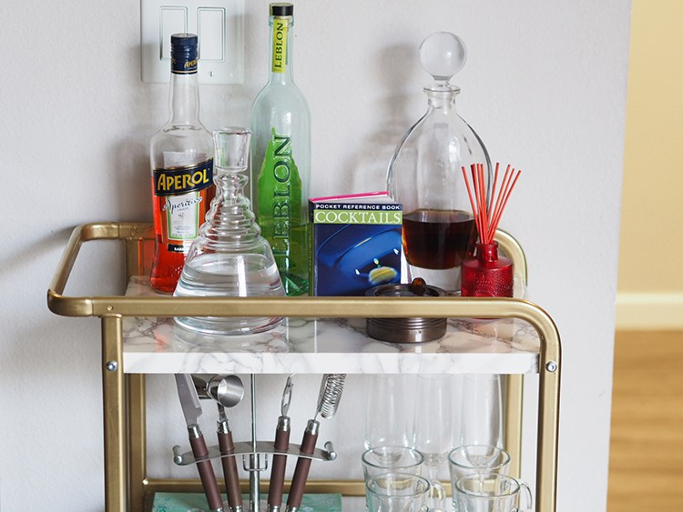DIY IKEA Sunnersta bar cart makeover (via www.musingsonmomentum.com)