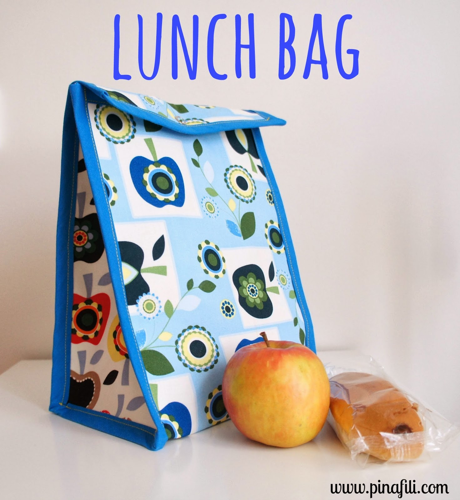 DIY colorful lunch bag with vinyl lining
