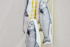 DIY hanging fish decorations