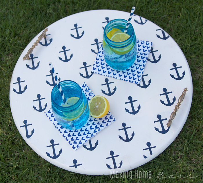 DIY nautical anchor-stenciled tray (via www.makinghomebase.com)